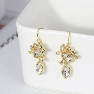 Alexis Bittar Crystal Drop Dangle Gold Earrings